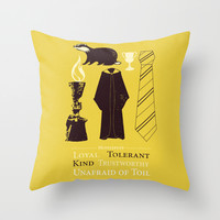 Hufflepuff - Harry Potter Throw Pillow by AbbieImagine