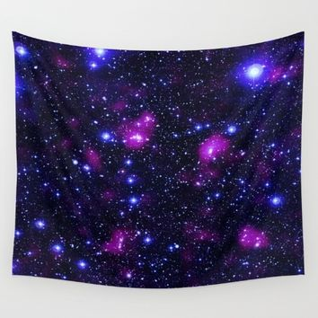 GalAxy Purple Blue Stars Wall Tapestry by 2sweet4words Designs