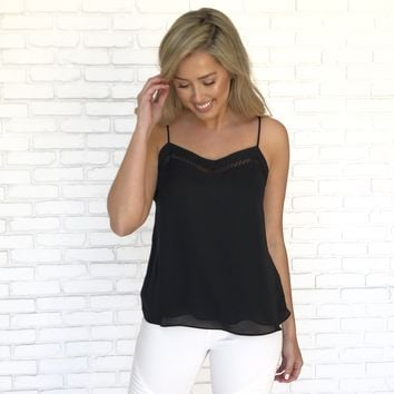 Picture This Black Tank Blouse