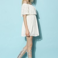 off shoulder dress white long summer lace - Google 搜尋