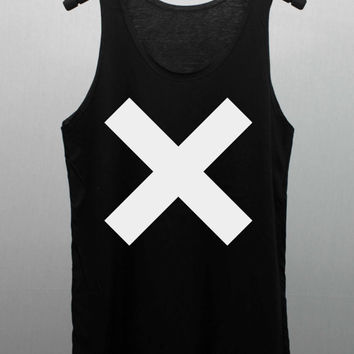 The XX Tank Top women handmade silk screen printing