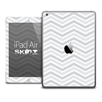 The Subtle White Chevron Pattern Skin for the iPad Air