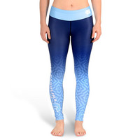 North Carolina Tar Heels Womens Official NCAA Gradient Print Leggings