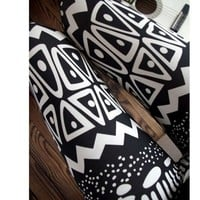 Black Zigzag Pattern Skinny Leggings [313]