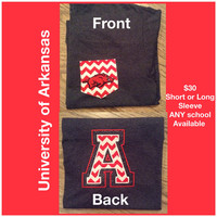 University of Arkansas Pocket tee