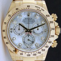 NEVER WORN Rolex Cosmograph Daytona Yellow Gold Mother of Pearl Diamond 116528