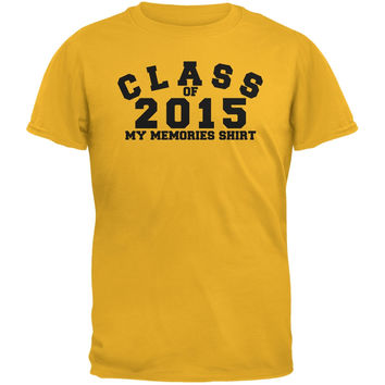 Graduation - Class Memories 2015 Gold Adult T-Shirt
