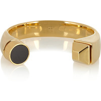 Saint Laurent - Gold-plated onyx cuff