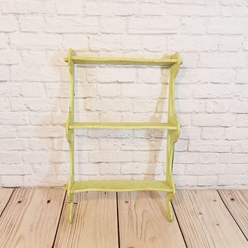 Vintage Chippy Green Wall Shelf
