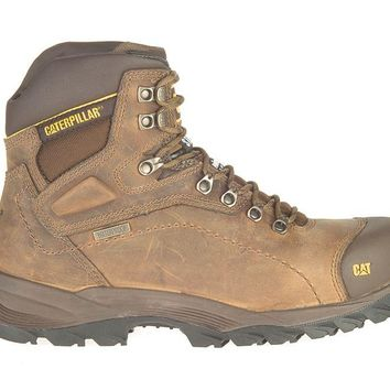 Cat P89940-10.5M Caterpillar Mens Waterproof Steel Toe Work Boot,Dark Beige, 10.5