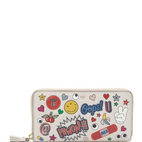 Anya Hindmarch All Over Wink Sticker Large Zip-Around Wallet, Multi