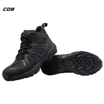 CQB Outdoor Sport Tactical Military Boots Hiking Shoes Walking Men Climbing Shoes Mountain Non-slip Breathable Shoes for Hunting