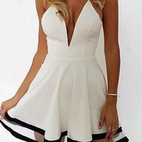 Bella White Dress with Mesh
