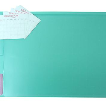 """There`s Desk Mat & Mate 21"""" X """"13 Desk Pad & Protector Mouse Pad for Desktops and Laptops (Cool Mint)"""