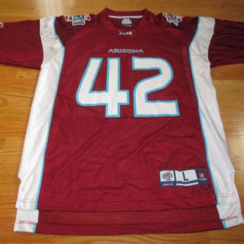 Reebok NFL Players AZ No 42 SUPER BOWL XLII (LG) Jersey NY GIANTS vs PATRIOTS