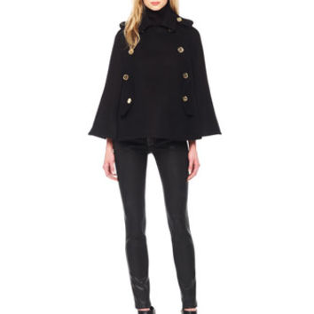 MICHAEL Michael Kors  Pea Coat Cape, Ribbed Sleeveless Turtleneck & Stretch-Leather Skinny Pants