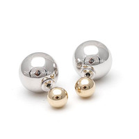 ball studs, ball earrings, front and back, front and back studs, simple earrings, woman earrings, double earrings, candy earrings