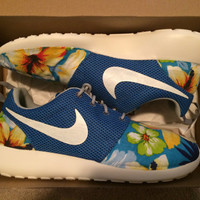Custom Roshe Run Blue Hawaiian