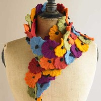Long Felt Flower Scarf