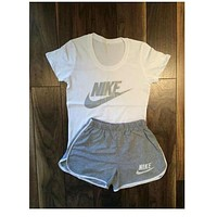 Nike Women Fashion Print Short sleeve Top Shorts Pants Sweatpants Set Two-Piece Sportswear One-nice™