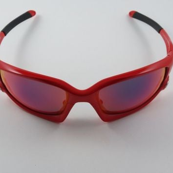 Oakley Split Jacket Infrared Positive Red Iridium Polarized Asian Fit NEW RARE