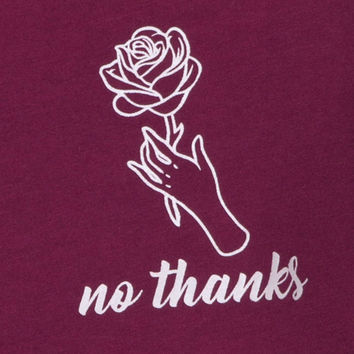 Oversize Basic Tee in No Thanks Burgundy by Motel