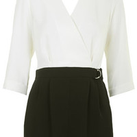 PETITE D-Ring Playsuit - Monochrome