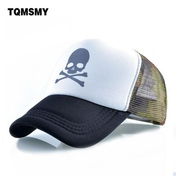 Trendy Winter Jacket Unisex bone Skull pattern Baseball cap men Hip Hop caps women Snapback Caps Breathable mesh sun hats for women's Casquette AT_92_12