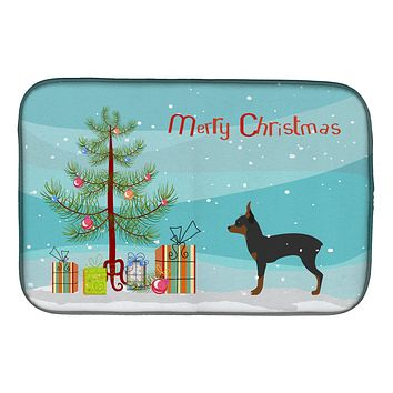 Toy Fox Terrier Merry Christmas Tree Dish Drying Mat BB2905DDM