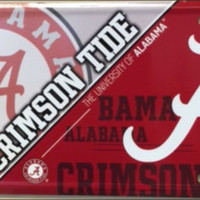 Alabama Crimson Tide Tag Roll Tide Football License Plate
