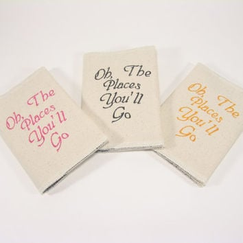 Passport Cover Canvas Oh The Places You'll Go by LolaJeans on Etsy