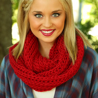 Little Red Riding Scarf: Red - One