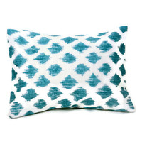 Aromatherapy Herbal Dream Pillow - Aqua Brush Strokes - (Blends Available: Restful, Peaceful, Romantic, or Creativity)