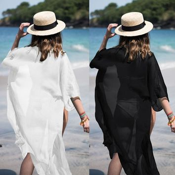 US STOCK Women Beachwear Swimwear Bikini Beach Wear Cover Up Kaftan Summer Dress