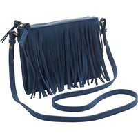 Old Navy Womens Sueded Fringe Crossbodies Size One Size - Blue