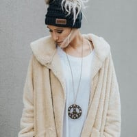 Cuddled Up + Cozy Fuzzy Jacket - Khaki