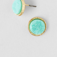 Yasmin Geode Stone Stud Earrings