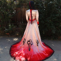 Royal Vampire Gothic Cross Blood Drenched Bride