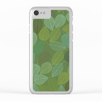 LEAVES ENSEMBLE KALE & PASTEL Clear iPhone Case by Pia Schneider Botanical Art