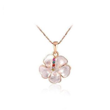 CREYUG3 Stylish Gift New Arrival Shiny Floral Jewelry Simple Design Necklace [9283992388]
