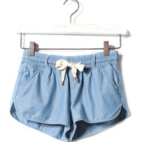 SPORTY DENIM SHORTS - TROUSERS AND SHORTS - WOMAN -  United Kingdom
