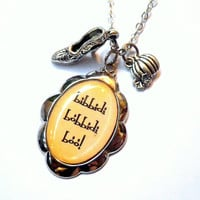 The Magic Song song lyrics Bibbidi Bobbidi Boo with glass slippers and pumpkin charms necklace