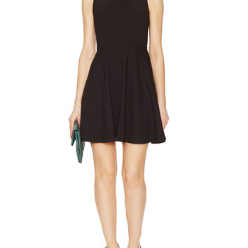Jersey Turtleneck Flare Dress