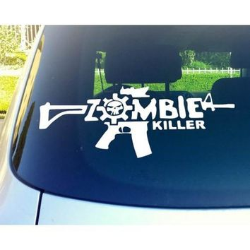 Zombie Killer Gun Automobile Window Decal Sticker