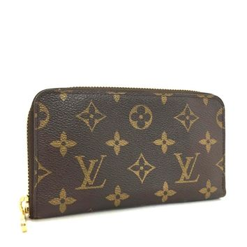100% Authentic Louis Vuitton Monogram Zippy Compact Zip Wallet /q33