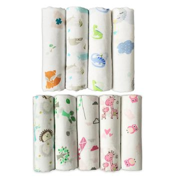 Muslin Bear Quality Baby Swaddle 70% Bamboo fibre 30% cotton carbasus newborn lovely blanket bath towel bed sheet wrap 120X120cm
