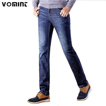 VMT New Class Style Men Jeans Blue Color Light Wash Straight Long Pants Plus Size High Quality Jean 29- 38 40 42 S6CJ098
