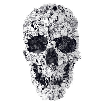 Ali Gulec's Doodle Skull Wall Decal