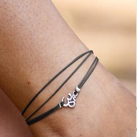Boho Gypsy Multi Layer Braid Leather Anklet Bracelet