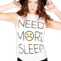 NEED MORE SLEEP Unisex Muscle Tee